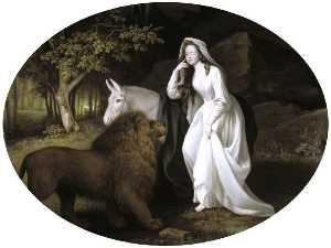 George Stubbs - Изабелла salstonstall как una дюймов Spenser-s -Faerie Queene-