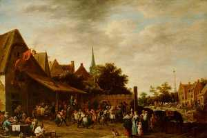 David The Younger Teniers - village wake на st George's Сутки