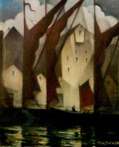Christopher Richard Wynne Nevinson - Thameside