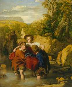 William Mulready The Younger - форд ( 'Crossing тем Ford' )