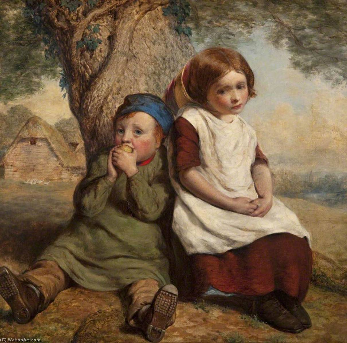 монополист, холст, масло по William Mulready The Younger (1786-1863, Ireland)