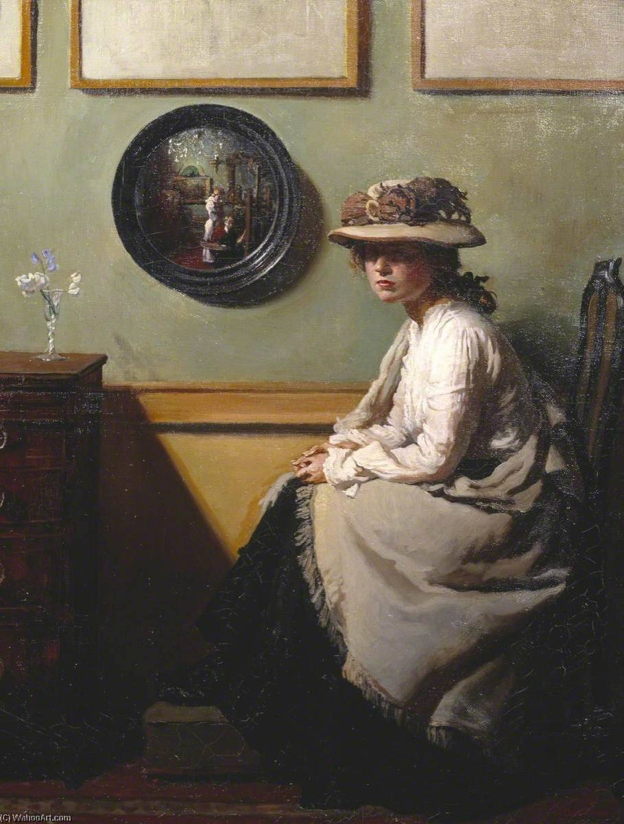 Зеркало, холст, масло по William Newenham Montague Orpen (1878-1931, Ireland)
