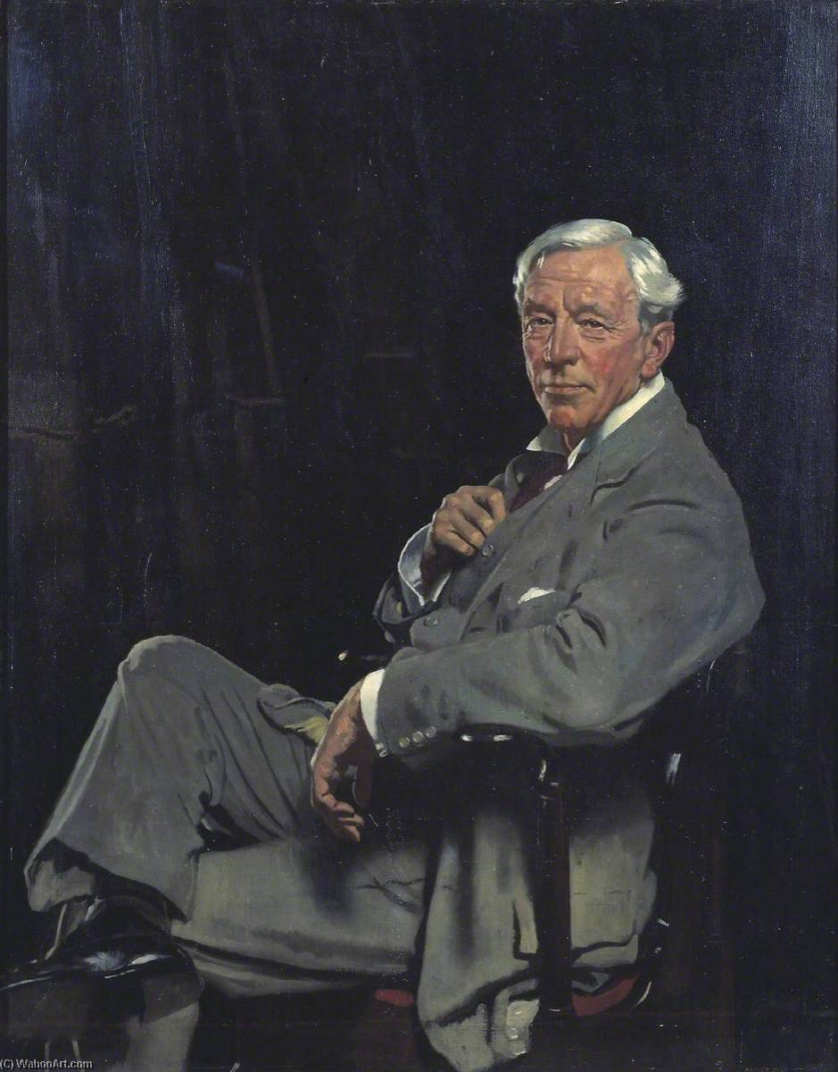 Сэр Уильям mccormick, холст, масло по William Newenham Montague Orpen (1878-1931, Ireland)