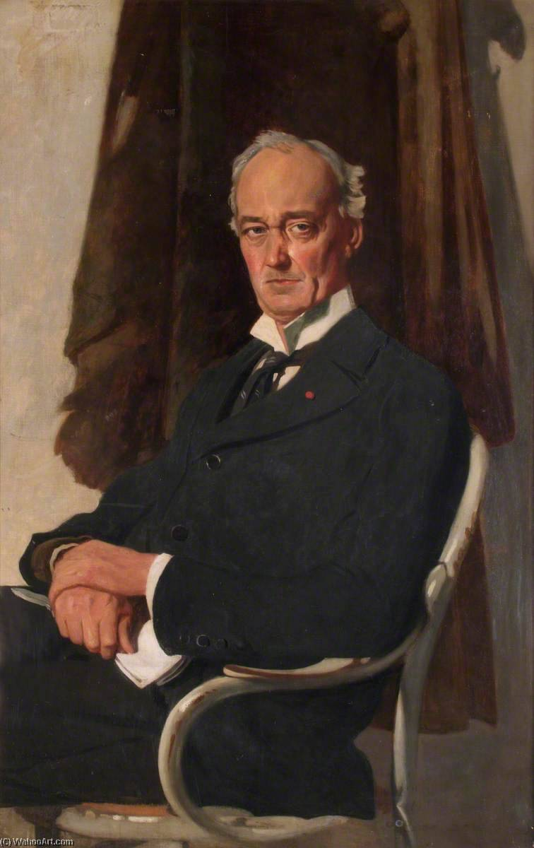 лорд riddell, холст, масло по William Newenham Montague Orpen (1878-1931, Ireland)