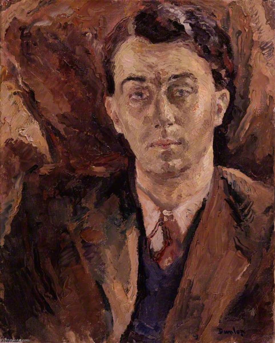 (George ) Emlyn Уильямс, холст, масло по Ronald Ossory Dunlop (1894-1973, Ireland)