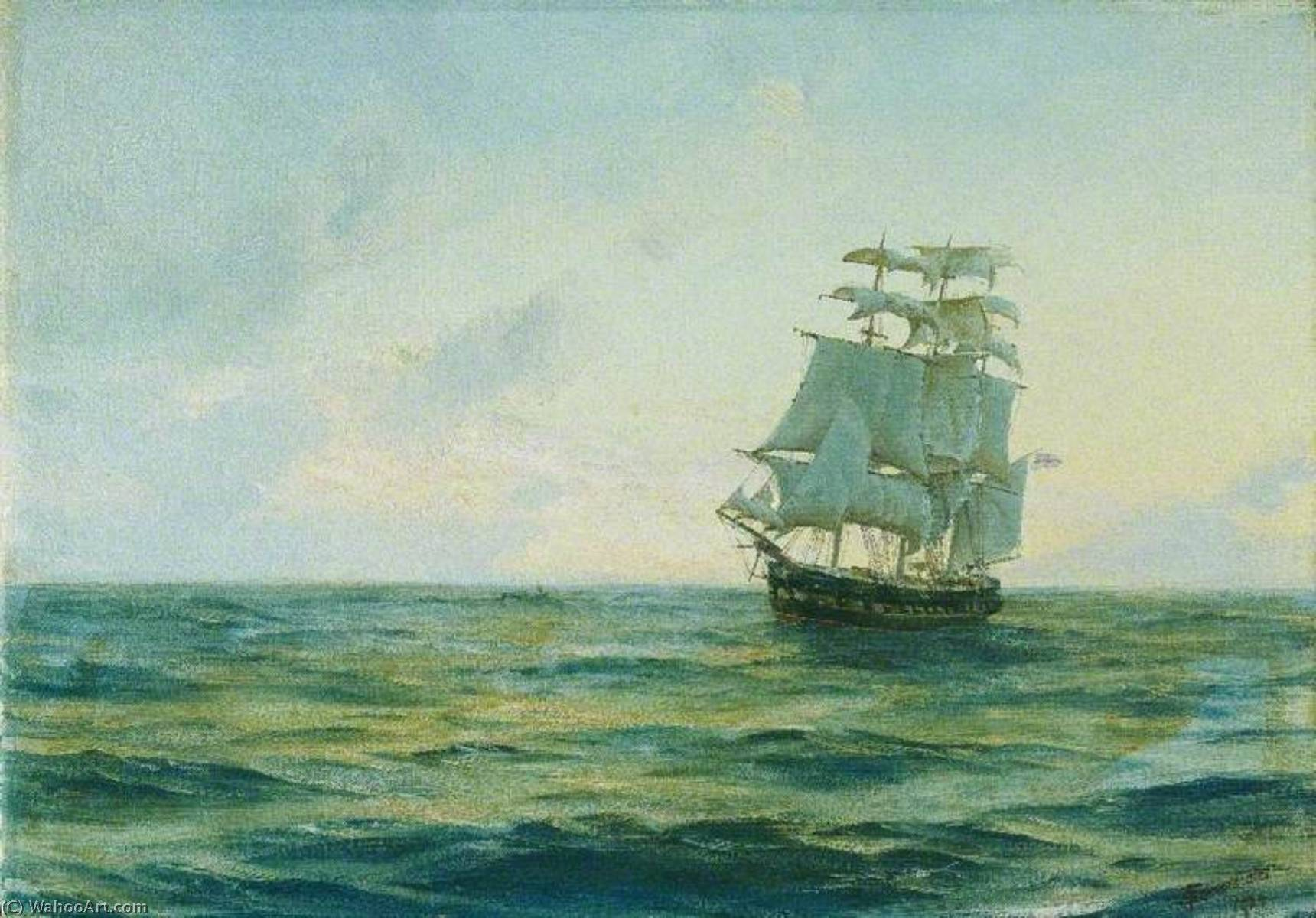 HMS 'Clio', холст, масло по Thomas Jacques Somerscales (1842-1927)