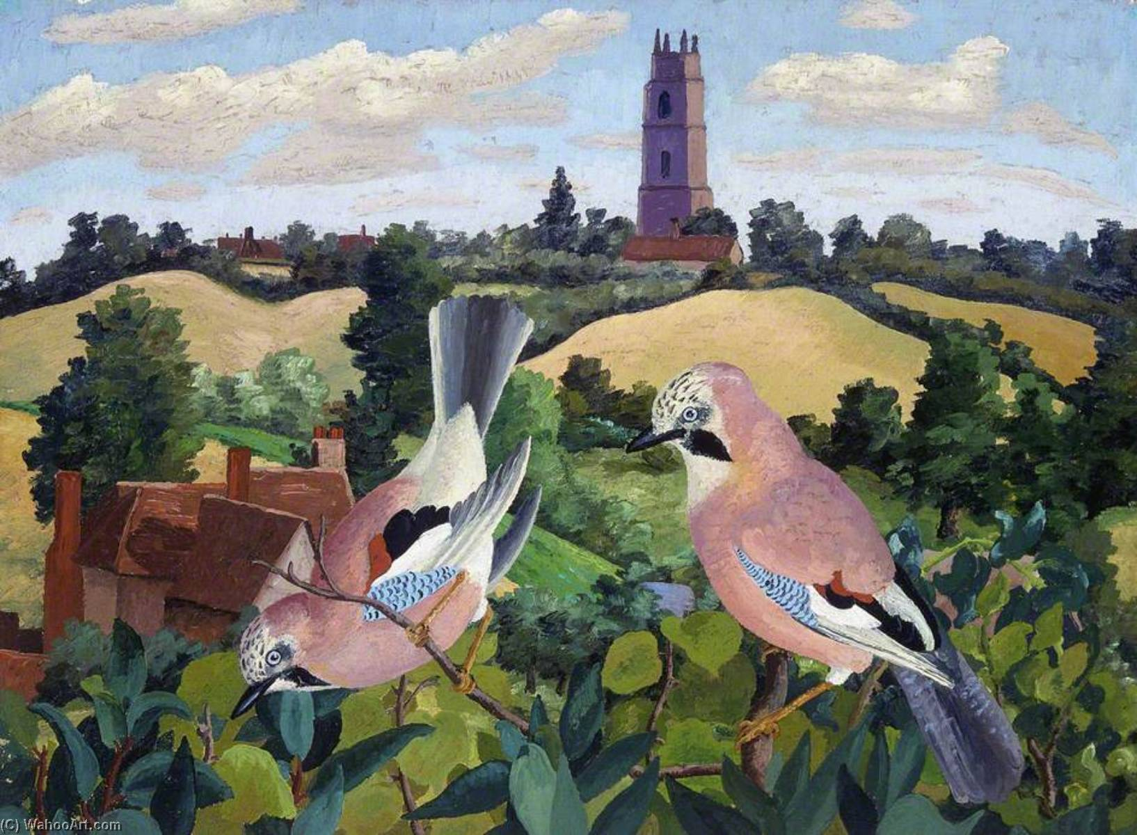 Топить nayland Церковь, 1940 по Cedric Lockwood Morris (1889-1982, United Kingdom) | WahooArt.com