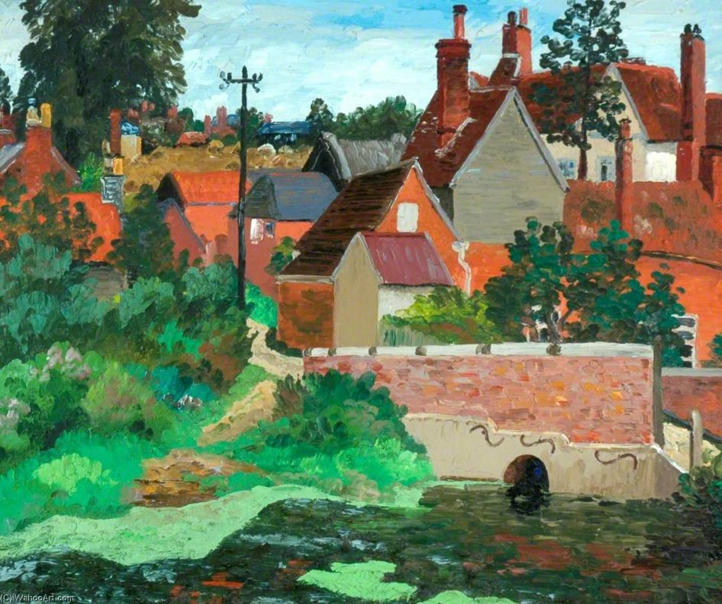 Polstead , Саффолк, холст, масло по Cedric Lockwood Morris (1889-1982, United Kingdom)
