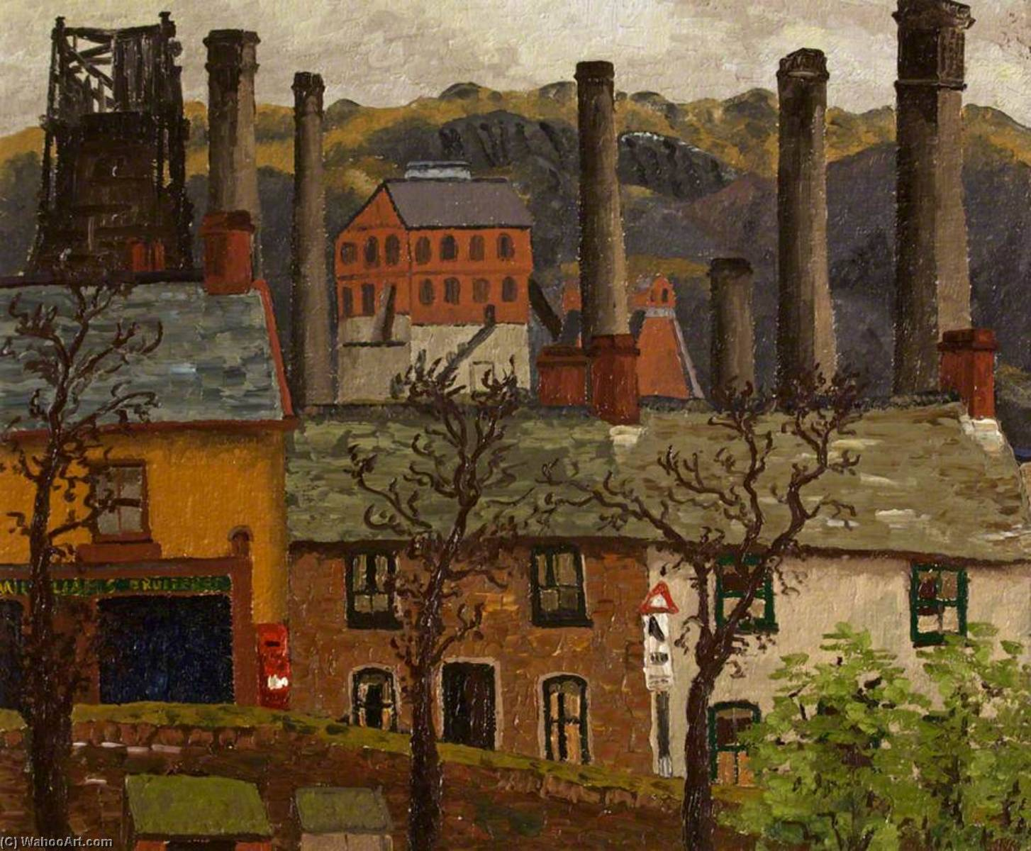 Caeharris почта из гвернервина Дома, холст, масло по Cedric Lockwood Morris (1889-1982, United Kingdom)