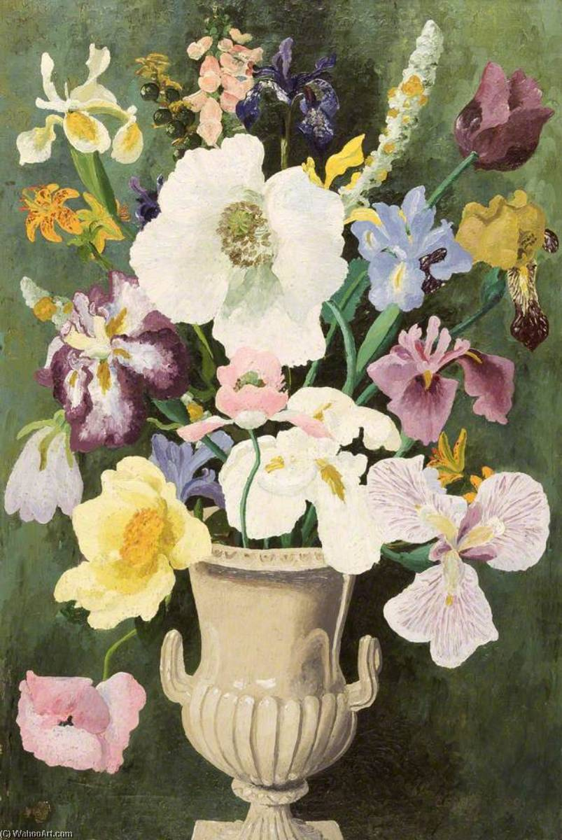 Helen's Горшок, холст, масло по Cedric Lockwood Morris (1889-1982, United Kingdom)