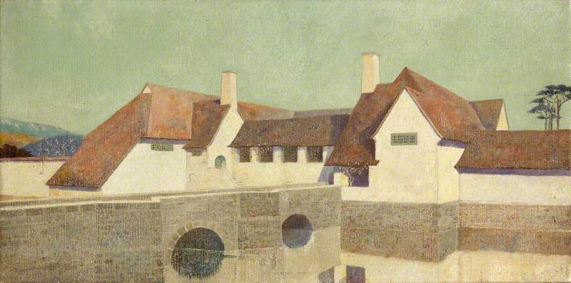 Almesbury Суд, Масло по Charles Paget Wade (1883-1956, United Kingdom)