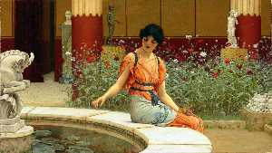 John William Godward - Рыба пруд