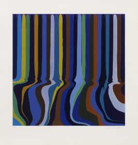 Ian Davenport - цветная серия royal blue etching
