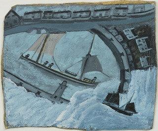 Улица Айвз  гавань , 1932 по Alfred Wallis (1855-1942, United Kingdom) | WahooArt.com