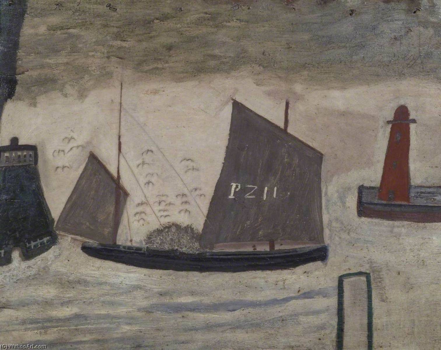 п . Z . 11, 1928 по Alfred Wallis (1855-1942, United Kingdom) | Репродукции Музея | WahooArt.com