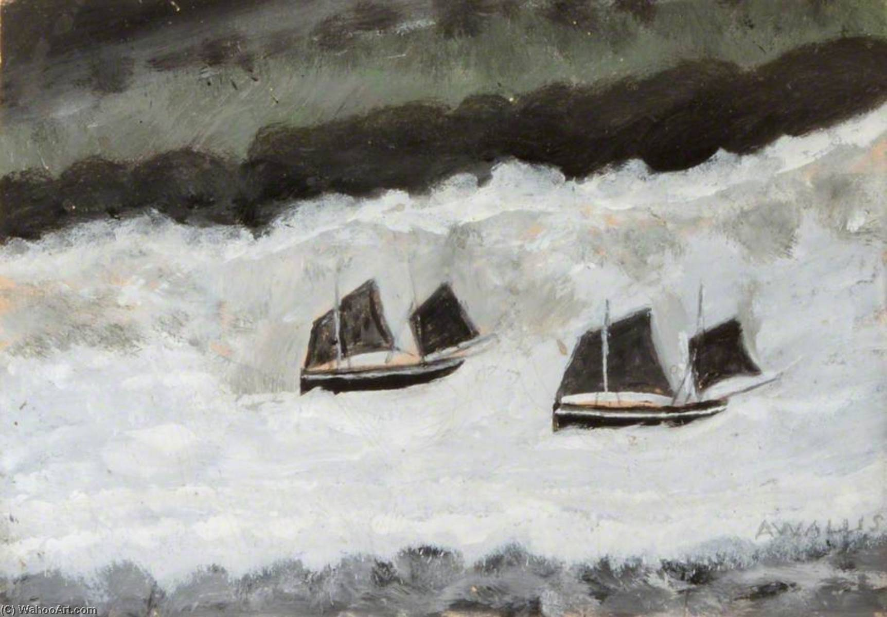 Парусные Лодки по Alfred Wallis (1855-1942, United Kingdom) | WahooArt.com