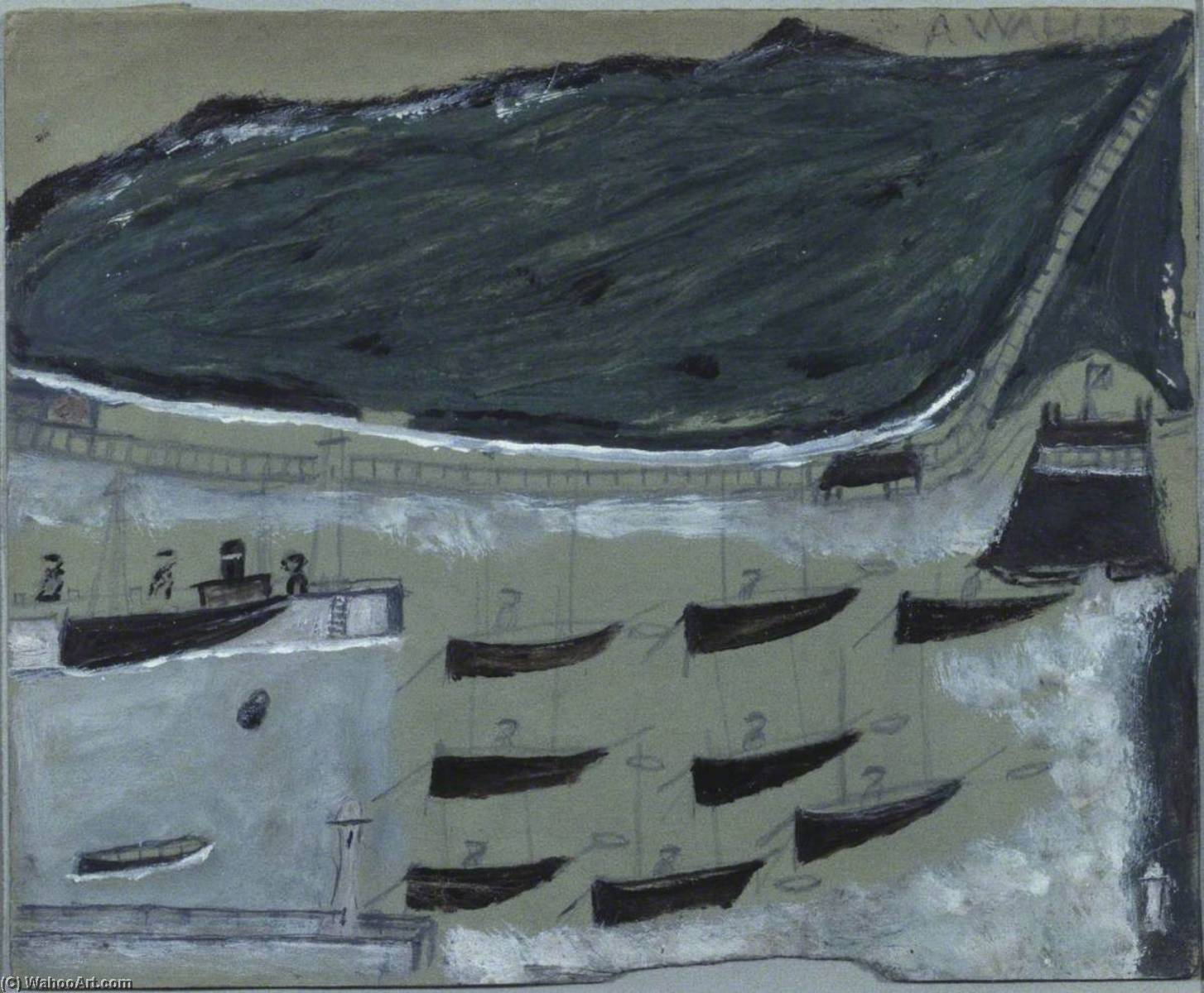Лодки Отдых в Mount's Лавровый по Alfred Wallis (1855-1942, United Kingdom) | WahooArt.com