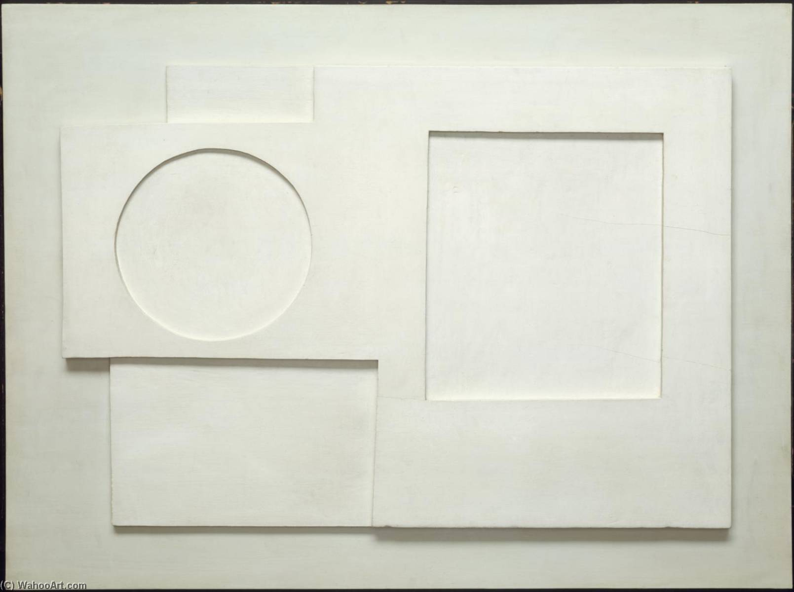 1934  Рельеф , Масло по Ben Nicholson (1894-1982, United Kingdom)