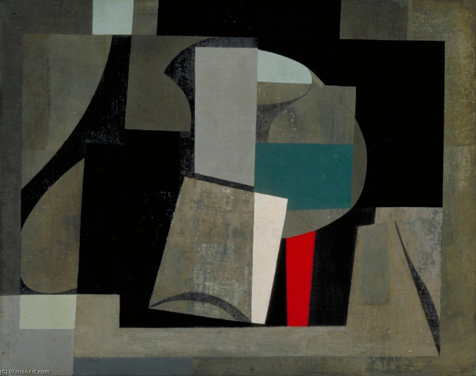 1934 6  картина  до сих пор  жизни , Холст по Ben Nicholson (1894-1982, United Kingdom)