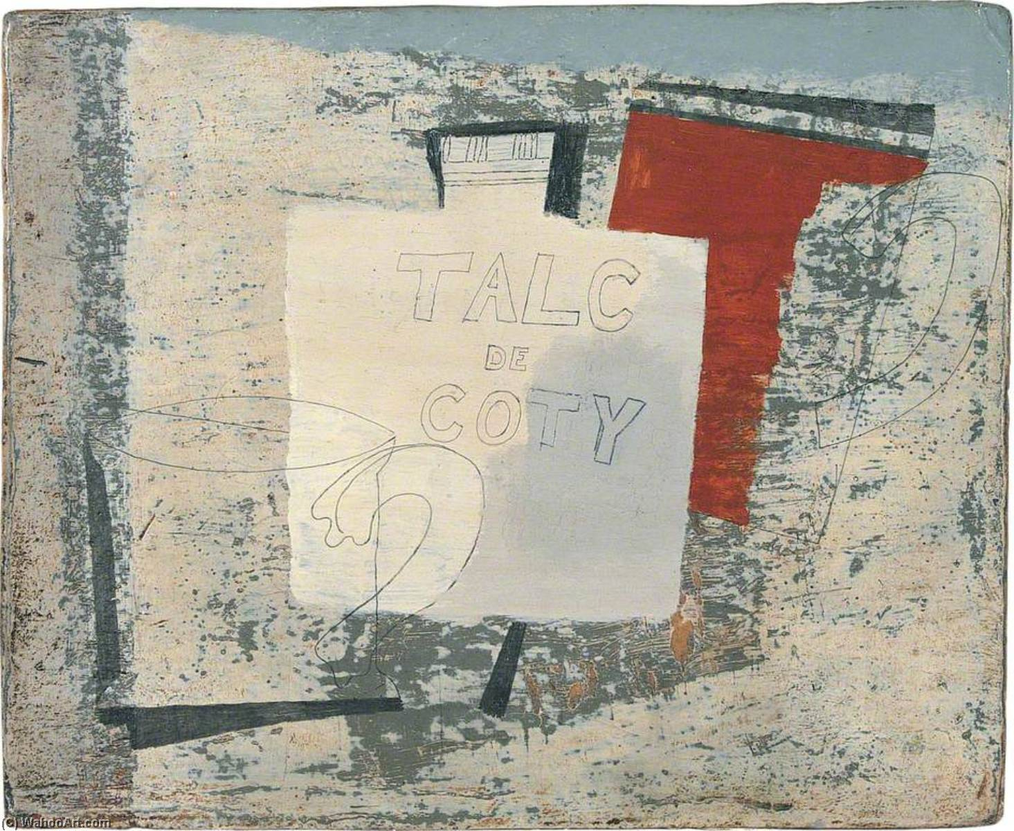 1932 ( Тальк де Coty ), Масло по Ben Nicholson (1894-1982, United Kingdom)