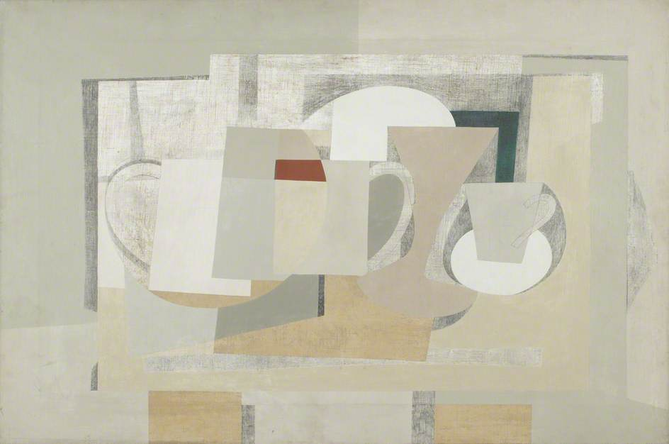 1930–1936  Композиция  до сих пор  жизни , холст, масло по Ben Nicholson (1894-1982, United Kingdom)