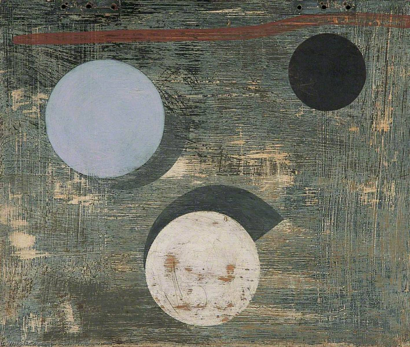 с 1946–1947   3   Круги , Масло по Ben Nicholson (1894-1982, United Kingdom)