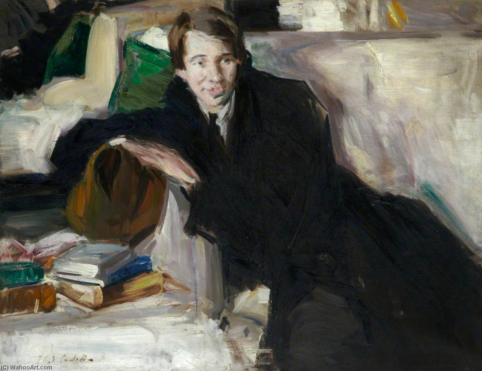 Поэт, холст, масло по Francis Campbell Boileau Cadell (1883-1937)