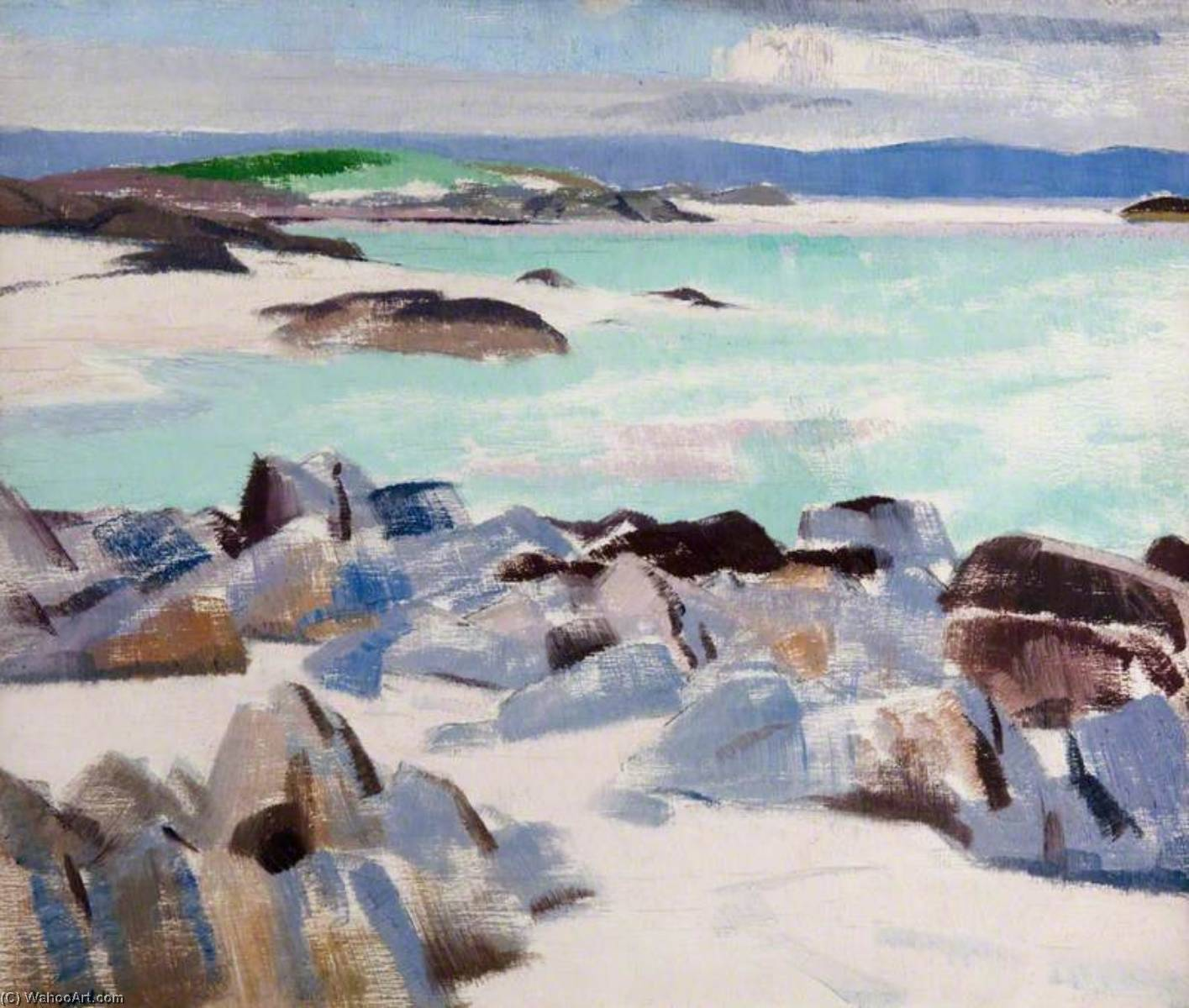 Ионы, холст, масло по Francis Campbell Boileau Cadell (1883-1937)