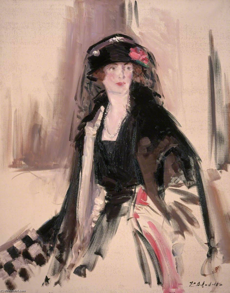 женщина Лавери  1887–1935  , холст, масло по Francis Campbell Boileau Cadell (1883-1937)