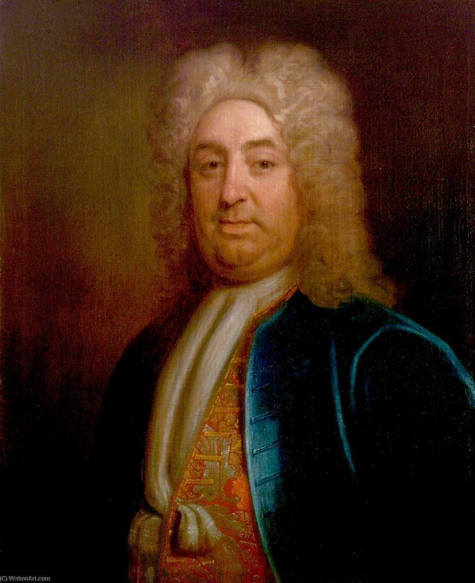 Сэр Хью Клоптон ( 1671–1751 ), холст, масло по Thomas Murray