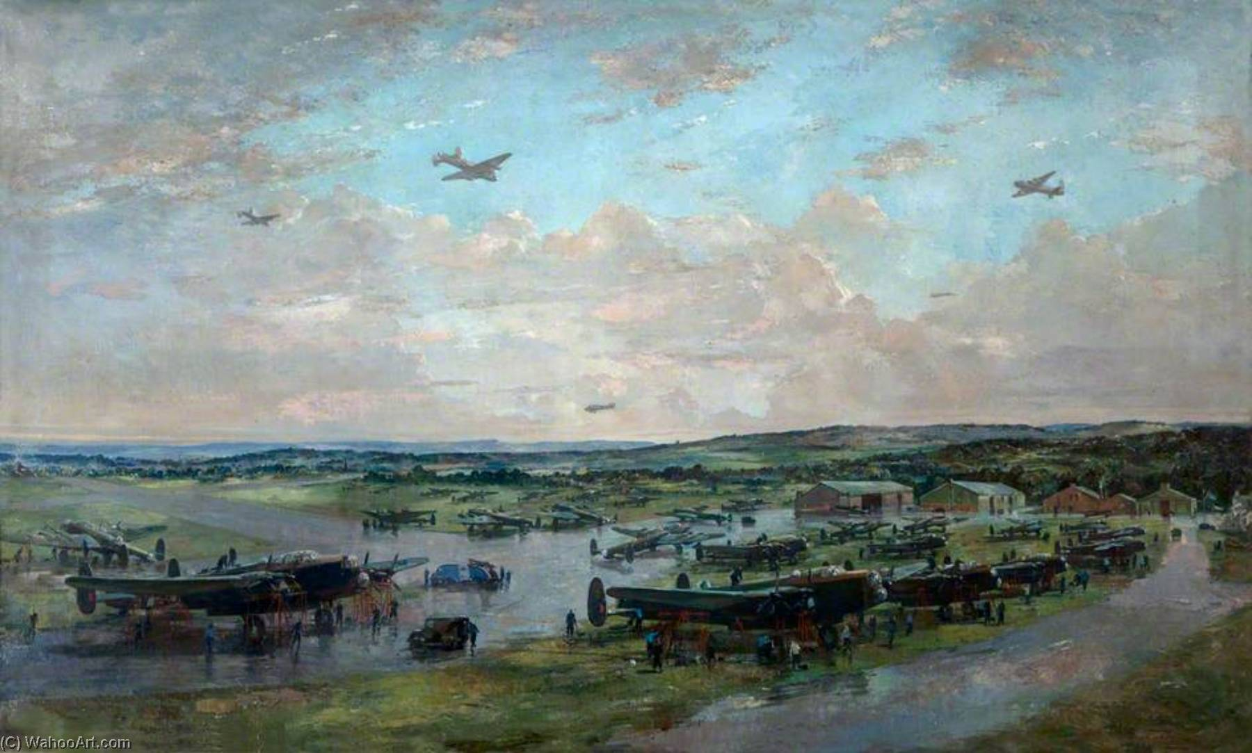 Lancasters, холст, масло по Charles Ernest Cundall