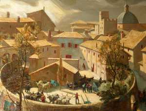 Charles Ernest Cundall - арена , Assisi