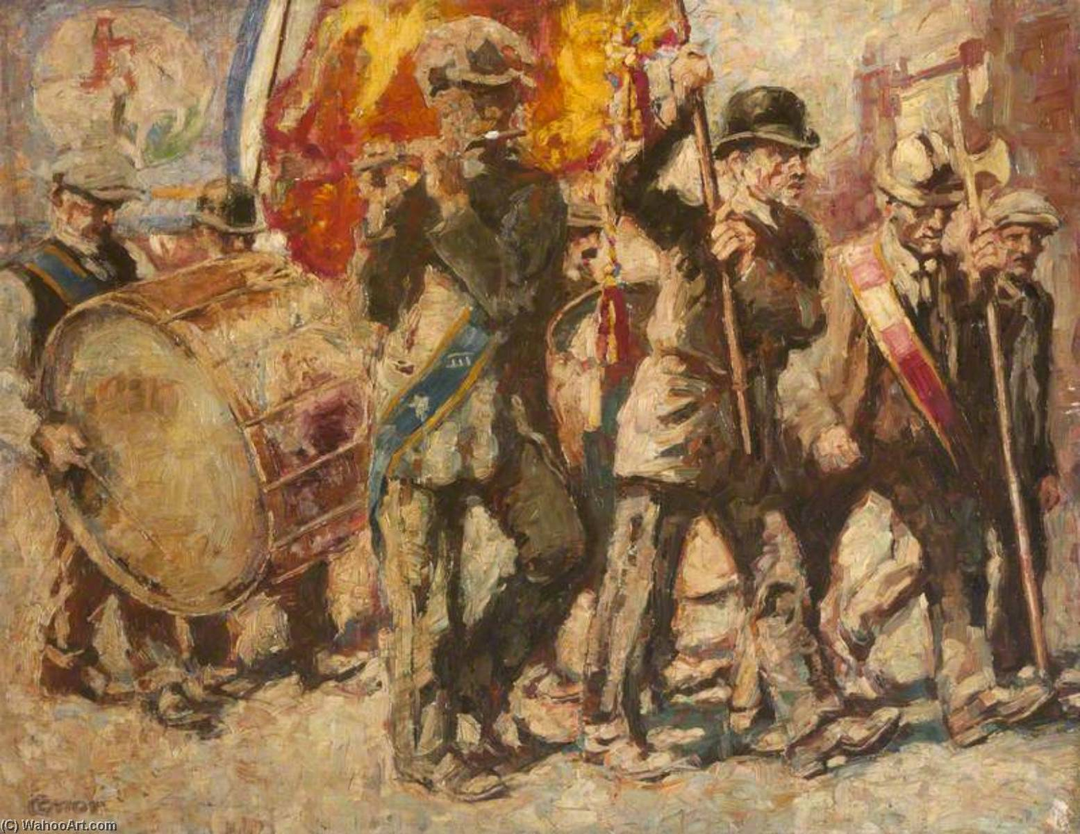 двенадцатый Веллингтон  место  Белфаст , 1918 по William Conor | WahooArt.com
