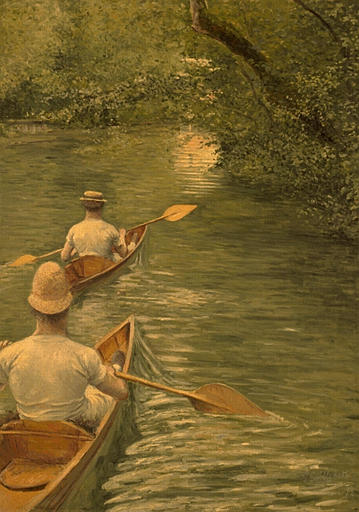 PERISSOIRES, масло по Gustave Caillebotte (1848-1894, France)
