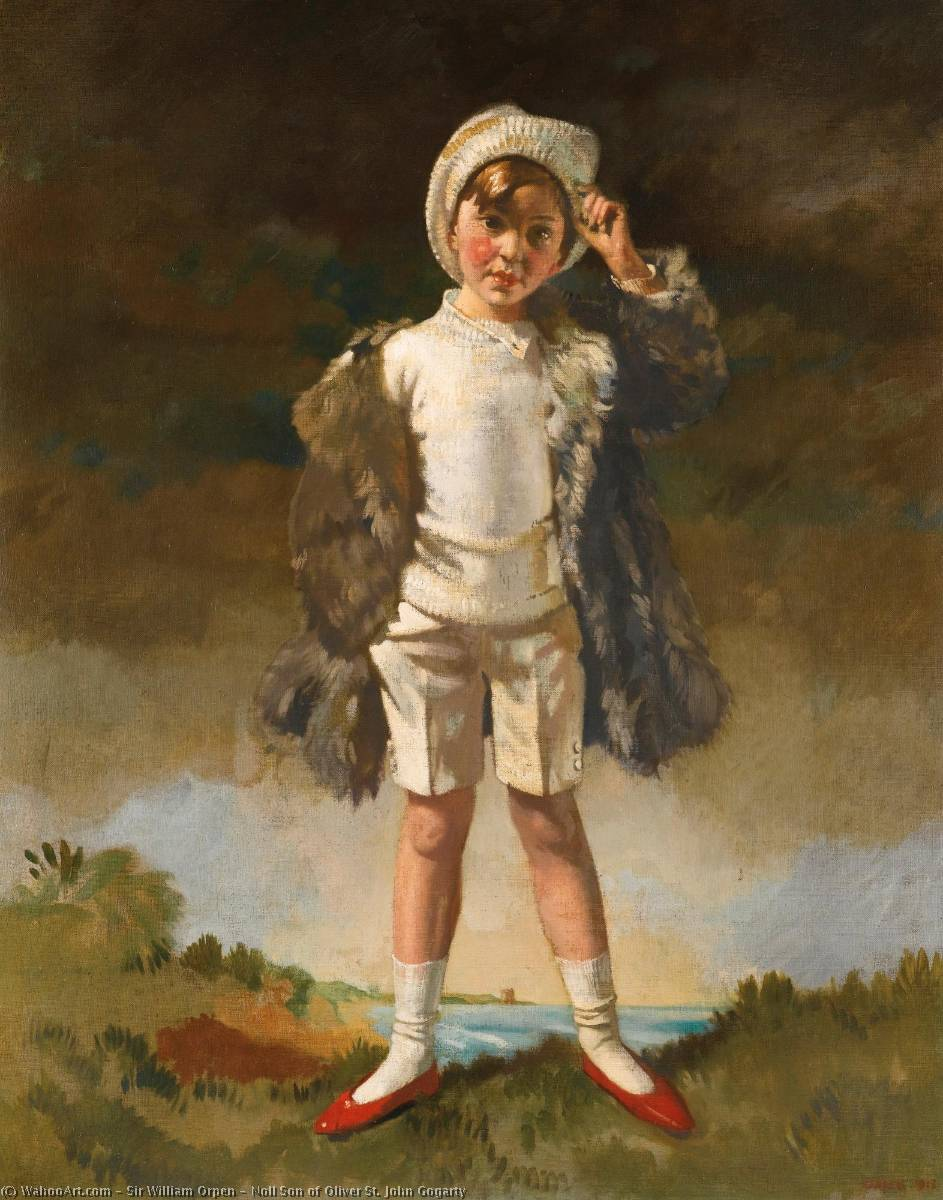 Нол Сын Оливер Св . Джон Gogarty, холст, масло по William Newenham Montague Orpen (1878-1931, Ireland)