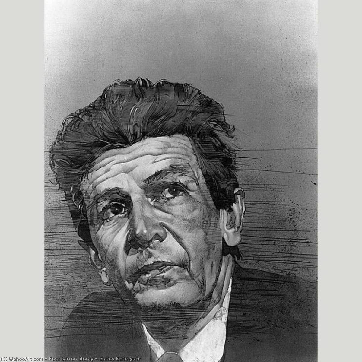 Энрико Berlinguer, 1975 по Ross Barron Storey | Репродукции Музея | WahooArt.com
