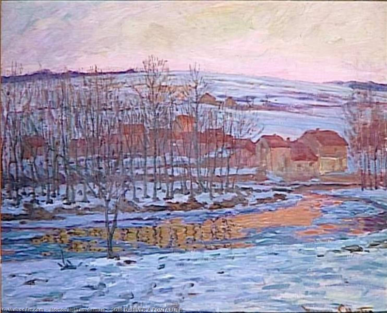 SOIR D'HIVER ПОНТАРЛЬЕ, масло по William Samuel Horton (1865-1936, United States)