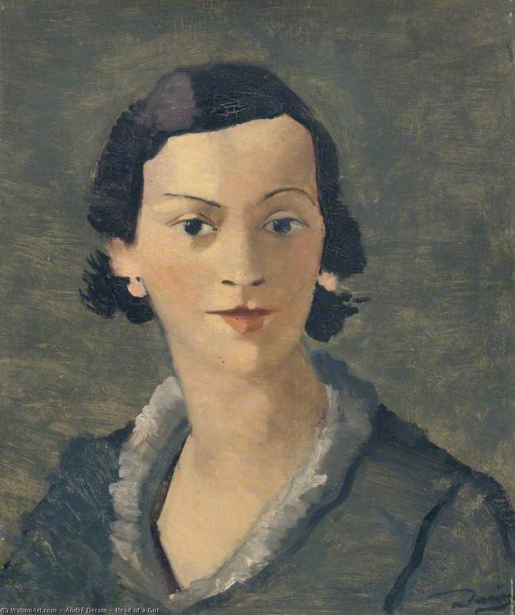 Голова девушки, холст, масло по André Derain (1880-1954, France)