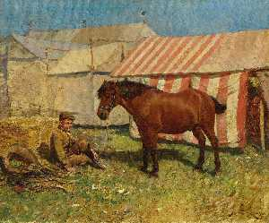 Alfred James Munnings - за Палатки