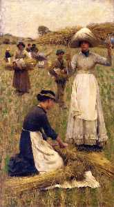 George Clausen - Gleaners