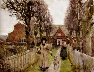 George Clausen - gaywood almshouses , Kings­ Линн